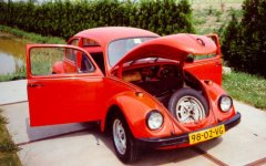 VW Beetle 1972 (with open doors and hood)