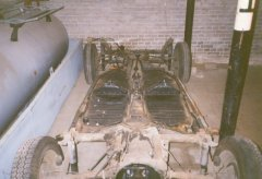 The chassis (rear) of the 1972 VW Beetle.