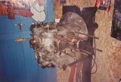 The engine of the 1972 VW Beetle (short-block).
