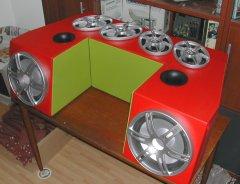 The finished 2000 watts boom box.