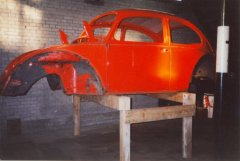 The body of the 1972 VB Beetle.